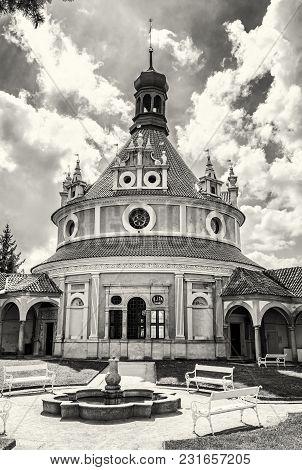 Detail Of Jindrichuv Hradec Gothic Castle, Czech Republic. Architectural Scene. Travel Destination.