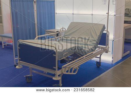 Bed, The Equipment For Hospital In Showroom. Medicine