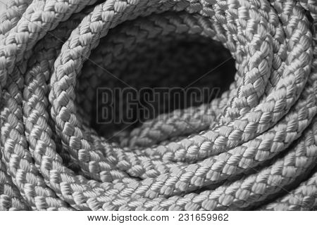 Background Texture Rope Synthetic Wicker Many Rows In Black And White