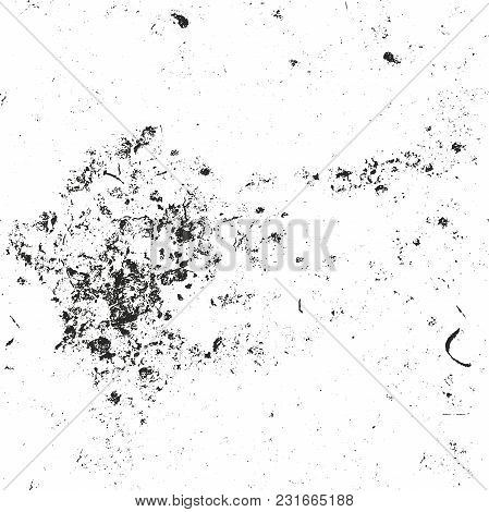 Distressed Overlay Texture Of Cracked Concrete, Stone Or Asphalt. Grunge Background. Abstract Halfto