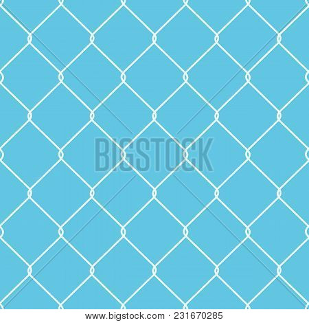 A Metal Wire Fence With Patterned Diamond Shapes.