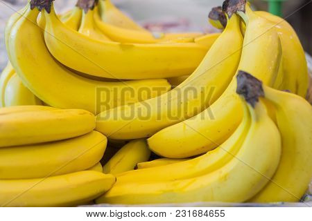 A Bunch Of Ripe Bananas In The Supermarket, Very Ripe Bananas
