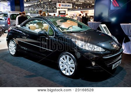 Moscow, Russia - August 25:  Grey Car Peugeot 207 Cc At Moscow International Exhibition Interauto On