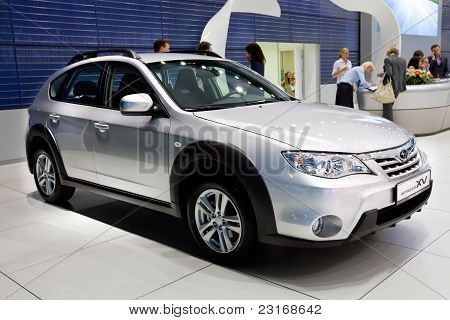 Moscow, Russia - August 25:  Grey Car Subaru  Impeza Vx At Moscow International Exhibition Interauto
