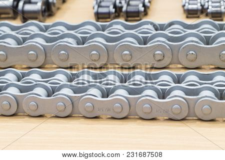 The Industrial Chains For Machine ; Close Up