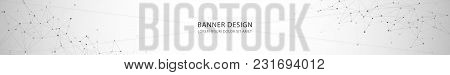 Vector Banner Design, Global Connection With Lines And Dots.