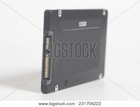 Solid State Drive Ssd On White Background