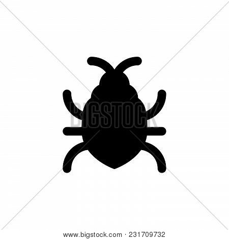 Big Bug Icon Isolated On White Background. Big Bug Icon Modern Symbol For Graphic And Web Design. Bi