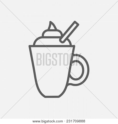 Latte Icon Line Symbol. Isolated  Illustration Of  Icon Sign Concept For Your Web Site Mobile App Lo