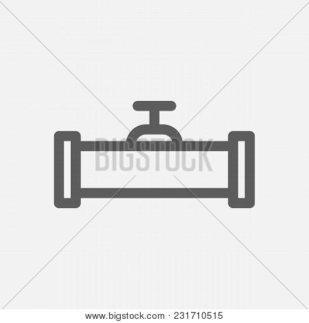Oil Pipeline Icon Line Symbol. Isolated Vector Illustration Of Valve Sign Concept For Your Web Site