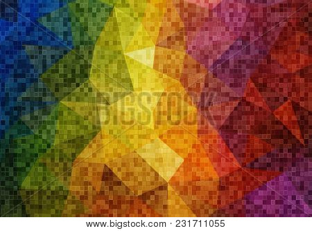 Abstract 2d Geometric Colorful Background For Your Design