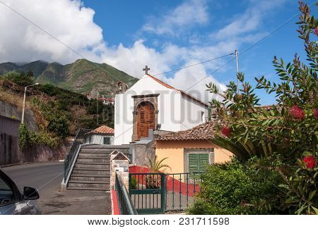 A Very Small Old Church In Sao Vicente On Madeira. Portugal