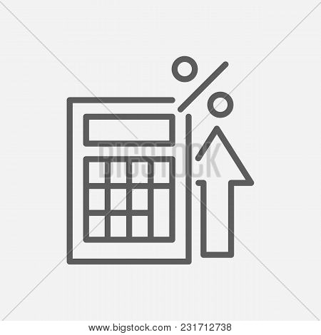 Tax Calculator Icon Line Symbol. Isolated Vector Illustration Of Calculate Sign Concept For Your Web