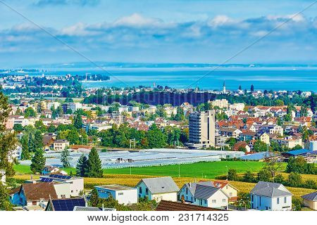 Overview Of Rorschach On The South Side Of Lake Constance (bodensee)