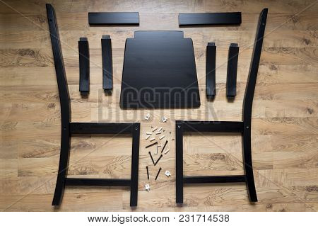 Assembly Of Wooden Furniture, Wooden Parts Of The Dining Chair