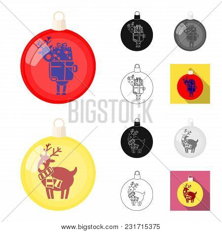 Balls For Decoration Cartoon, Black, Flat, Monochrome, Outline Icons In Set Collection For Design.ch