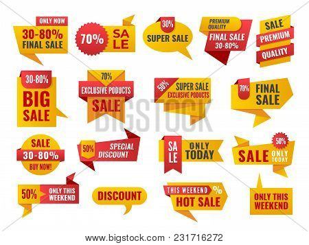 Set Of Sale And Best Choice Badges And Labels. Vector Illustration.