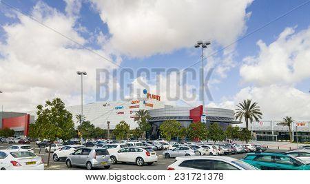 Beer-sheva, Israel - March 16, 2018: Parking Of Ispro Planet Mega-mall