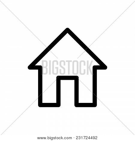 Home Icon Isolated On White Background. Home Icon Modern Symbol For Graphic And Web Design. Home Ico