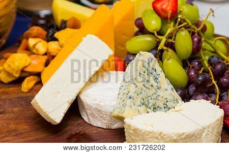 Breakfast Brunch Cheese Board At Spring Festival Picnic Event