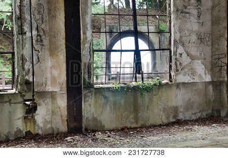 Abandoned Chemical Gas Factory In Okunoshima Island. Japan