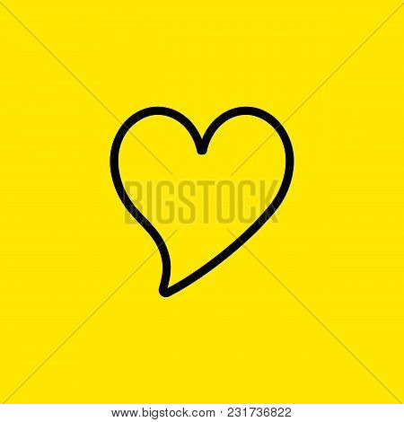 Line Icon Of Bubble Heart. Passion, Love, Affection. Heart Concept. Can Be Used For Topics Like Vale