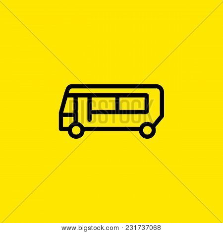 Line Icon Of Bus. Bus Station, Bus Stop Sign, Tour. Transport Concept. Can Be Used For Topics Like T