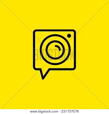 Icon Of Camera. Photo, Video, Lens. Photography Concept. Can Be Used For Topics Like Digital Devices