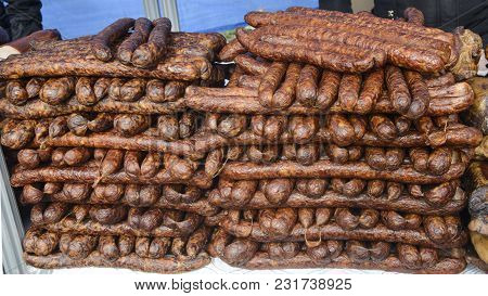 Pork Sausages Smoked And Dried