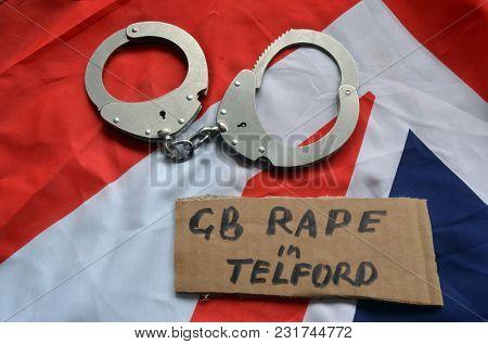 British Flag -TELFORD rape scandal concept