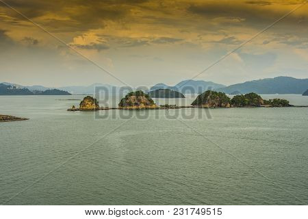 Panoramic Of The Langkawi Archipelago Declared World Geo Park By Unesco In The Strait Of Malacca In