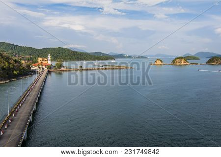 Panoramic Of The Wharves And The Port Of Langkawi And Back Its Archipelago Declared World Geo Park B