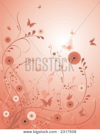 Rose Blume Vektor Hintergrund