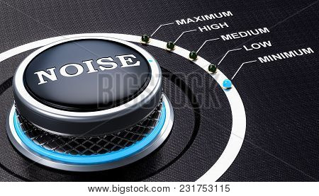 Volume Knob, Lowest Level Of Noise. 3d Rendering