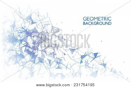 Geometric Background Concept. Abstract Connections On White. Modern Technology Design. Communication