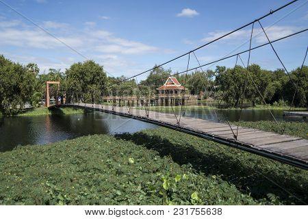 Thailand Isan Phimai Sai Ngam Banyan Tree Park