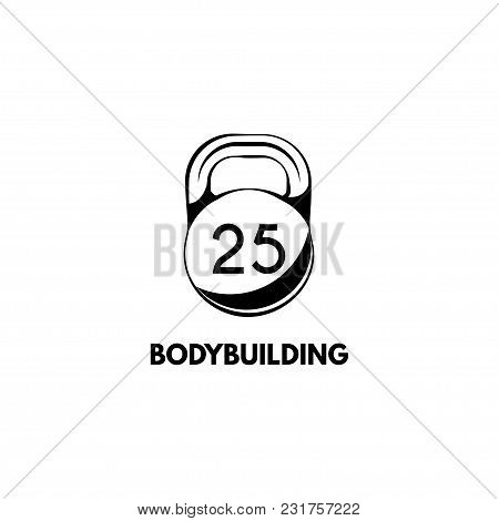 Weight Icon, Dumbbell. Bodybuilding Incription. Vector Illustration Isolated On White Background. Sp