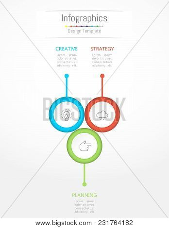 Infographic Design Elements For Your Business Data With 3 Options, Parts, Steps, Timelines Or Proces
