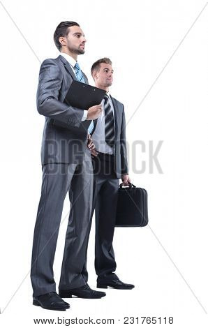 Manager and the lawyer with documents