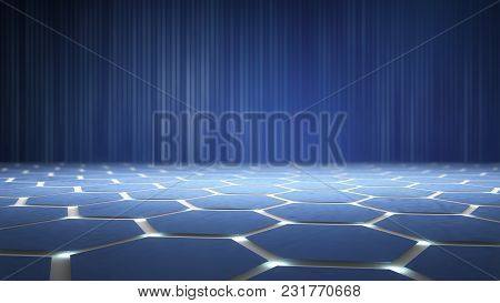 Atomic Structure Nanotechnology Background In Technology Concept, 3d Render
