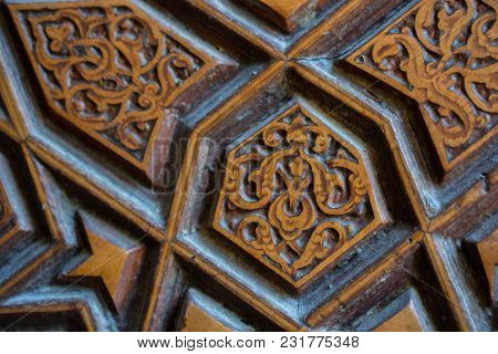 Ottoman Turkish  Art With Geometric Patterns In View