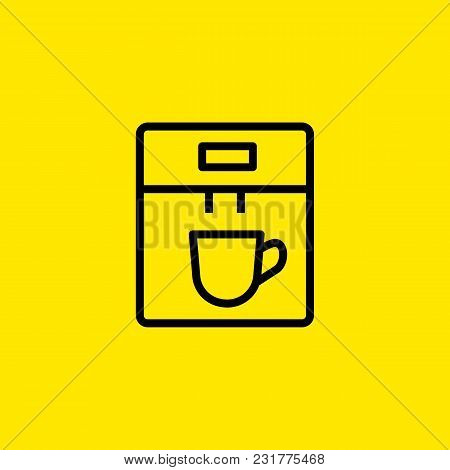 Icon Of Coffee Machine. Energy, Drink, Cup. Kitchen Concept. Can Be Used For Topics Like Equipment,