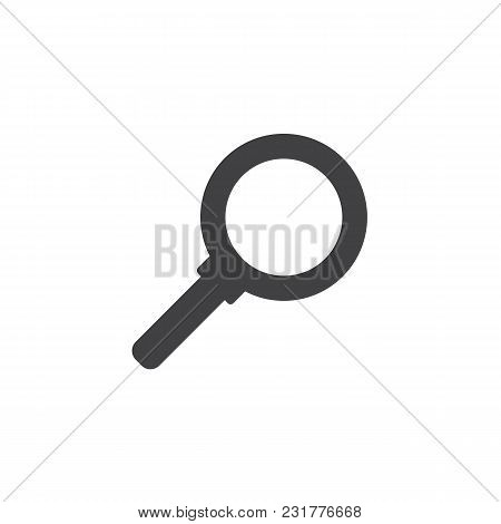 Magnifying Glass Vector Icon. Filled Flat Sign For Mobile Concept And Web Design. Loupe Simple Solid