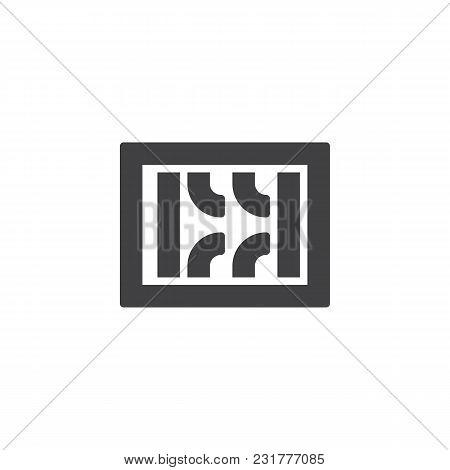 Prison Break Vector Icon. Filled Flat Sign For Mobile Concept And Web Design. Broken Prison Bars Sim
