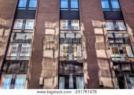 Close-up facade of an building