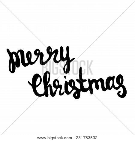 Merry Christmas Vector Text Calligraphy Lettering Pattern Card Design. Creative Typography For The H