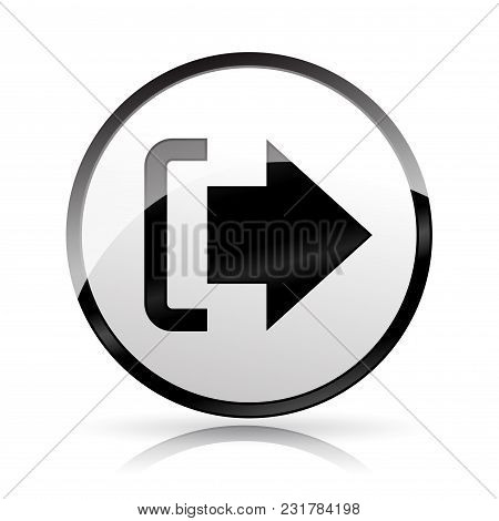 Illustration Of Logout Icon On White Background