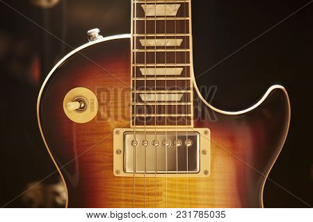 Photo Of Electric Guitar With Classic Traditional Form