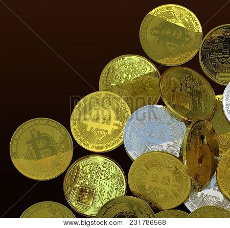 Bitcoin 3d Rendering Investment Profit Isolated Background Include Clipping Path For Illustration Ar