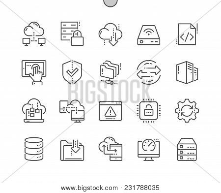 Hosting Pixel Perfect Well-crafted Vector Thin Line Icons 48x48 Ready For 24x24 Grid For Web Graphic